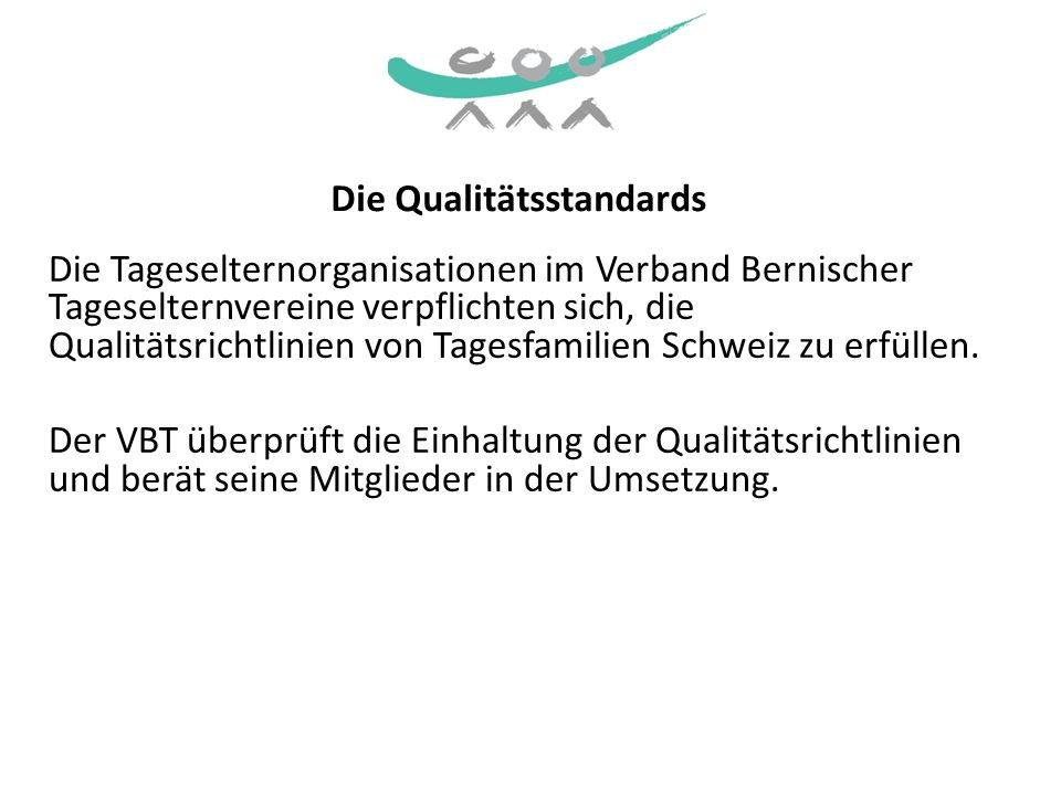 Die Qualitätsstandards