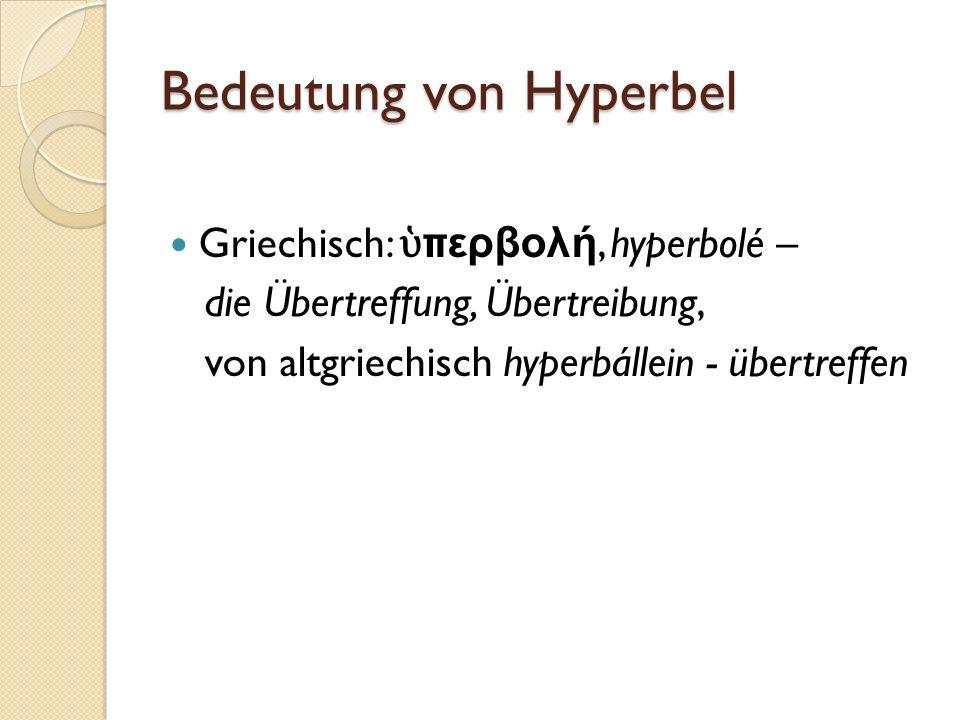 Bedeutung von Hyperbel