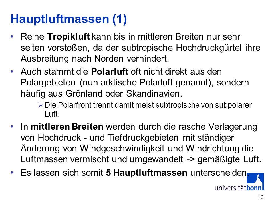 Hauptluftmassen (1)