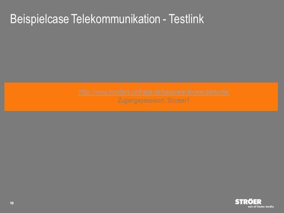 Beispielcase Telekommunikation - Testlink