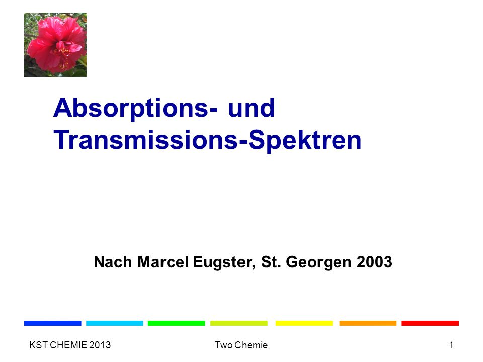 Absorptions- und Transmissions-Spektren