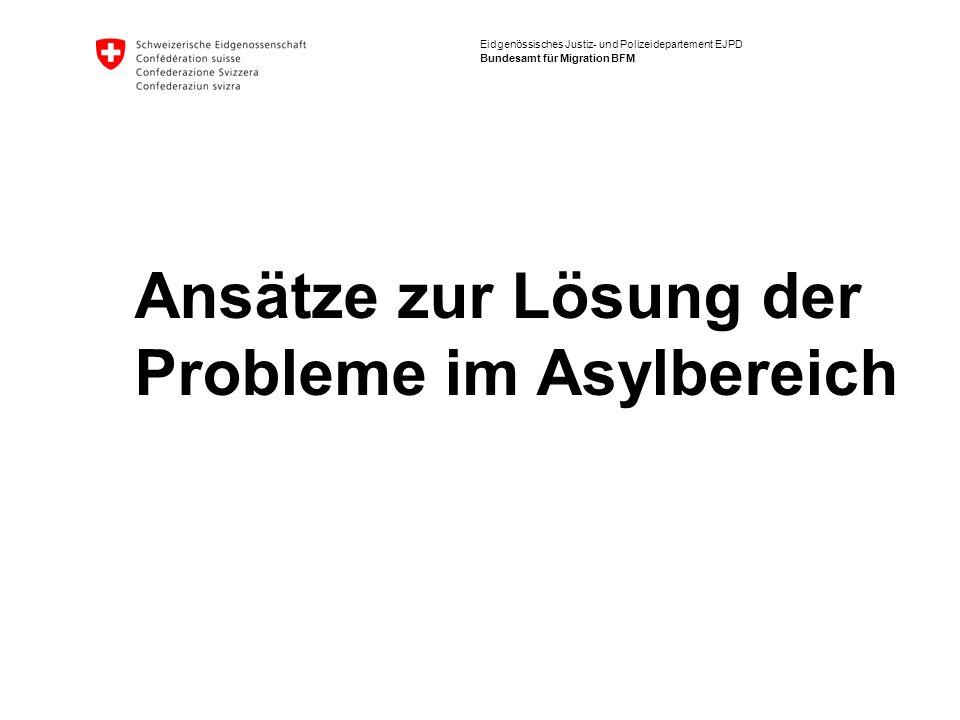 Ansätze zur Lösung der Probleme im Asylbereich