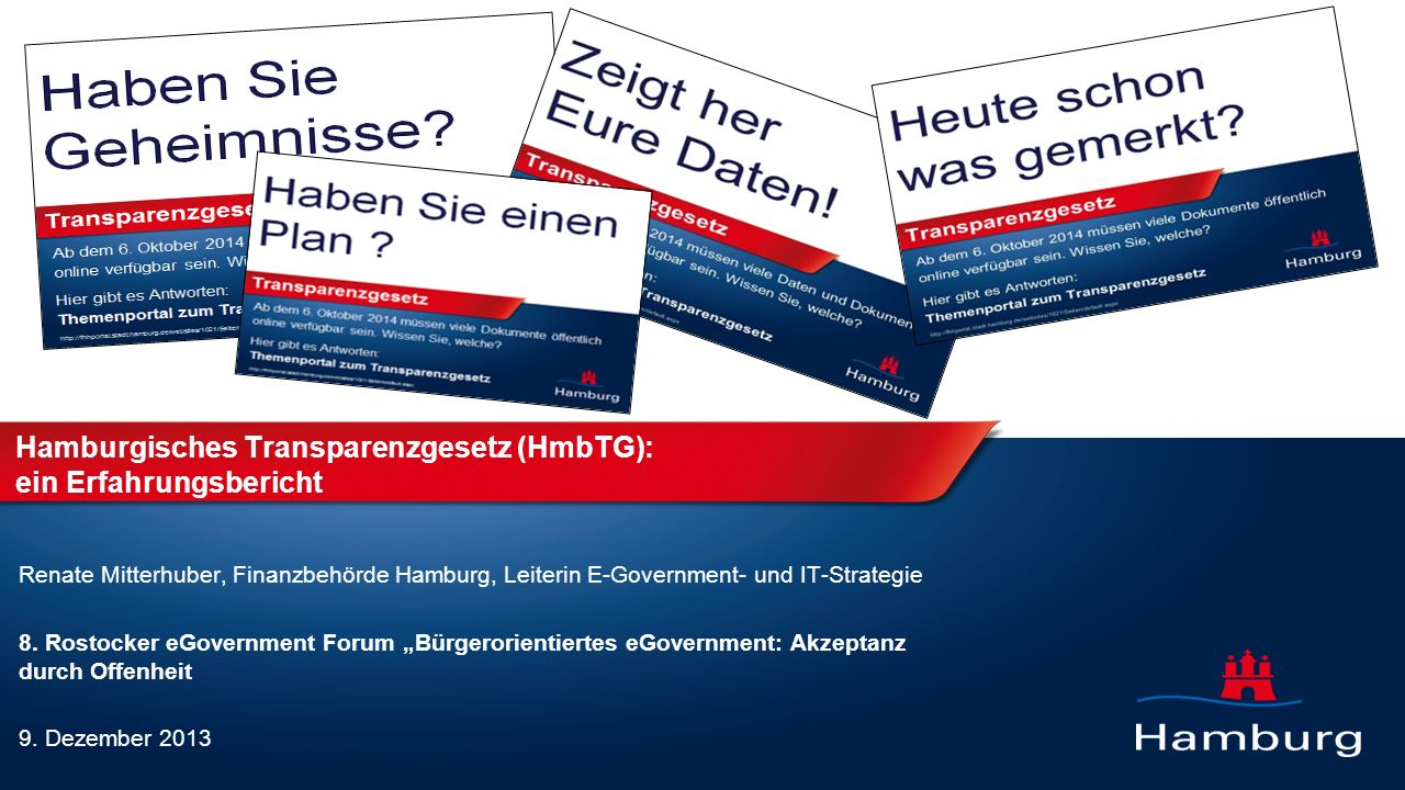 Hamburgisches Transparenzgesetz (HmbTG): ein Erfahrungsbericht