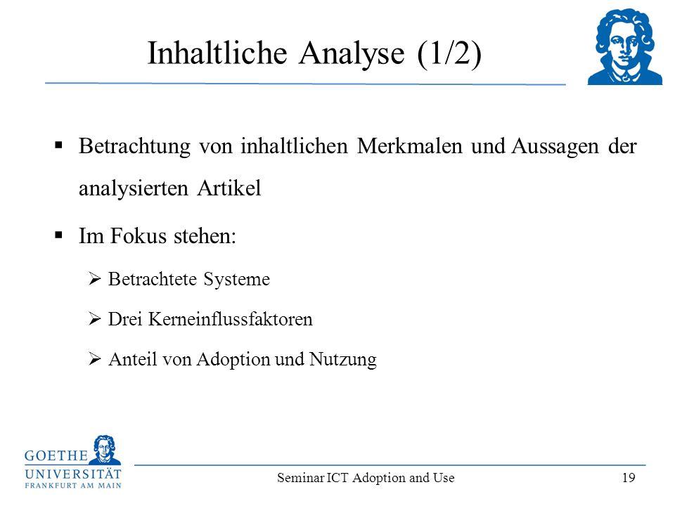 Inhaltliche Analyse (1/2)