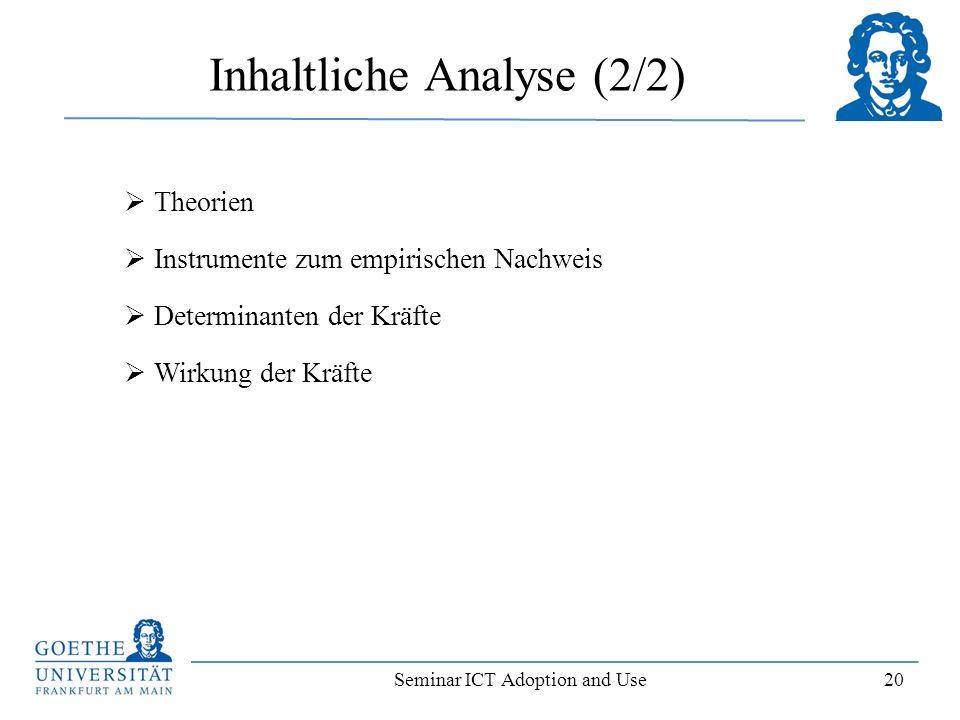 Inhaltliche Analyse (2/2)