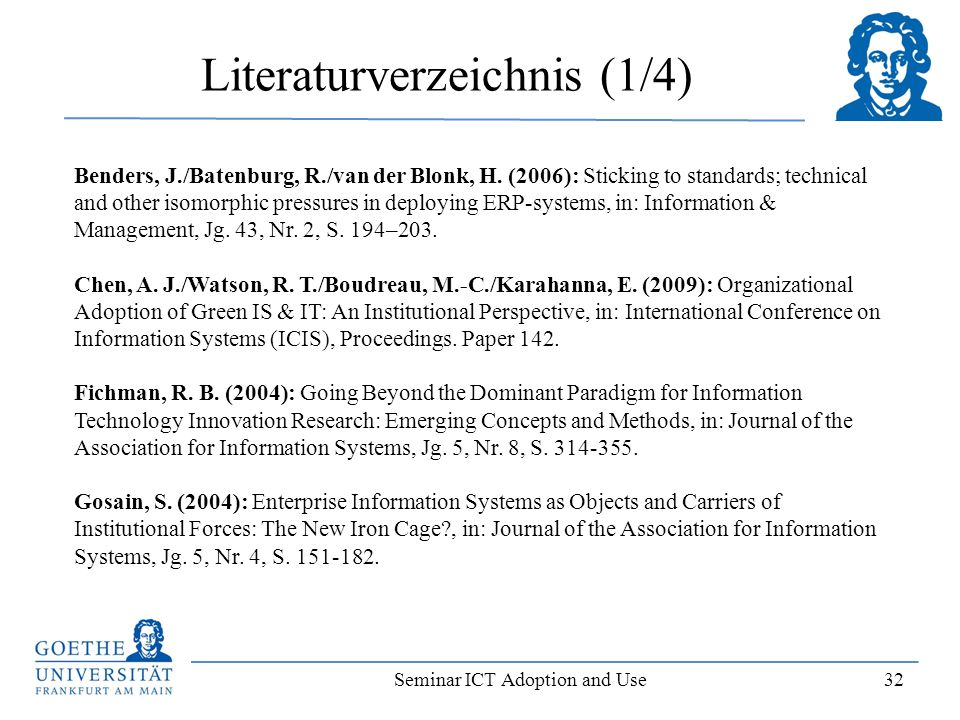 Literaturverzeichnis (1/4)