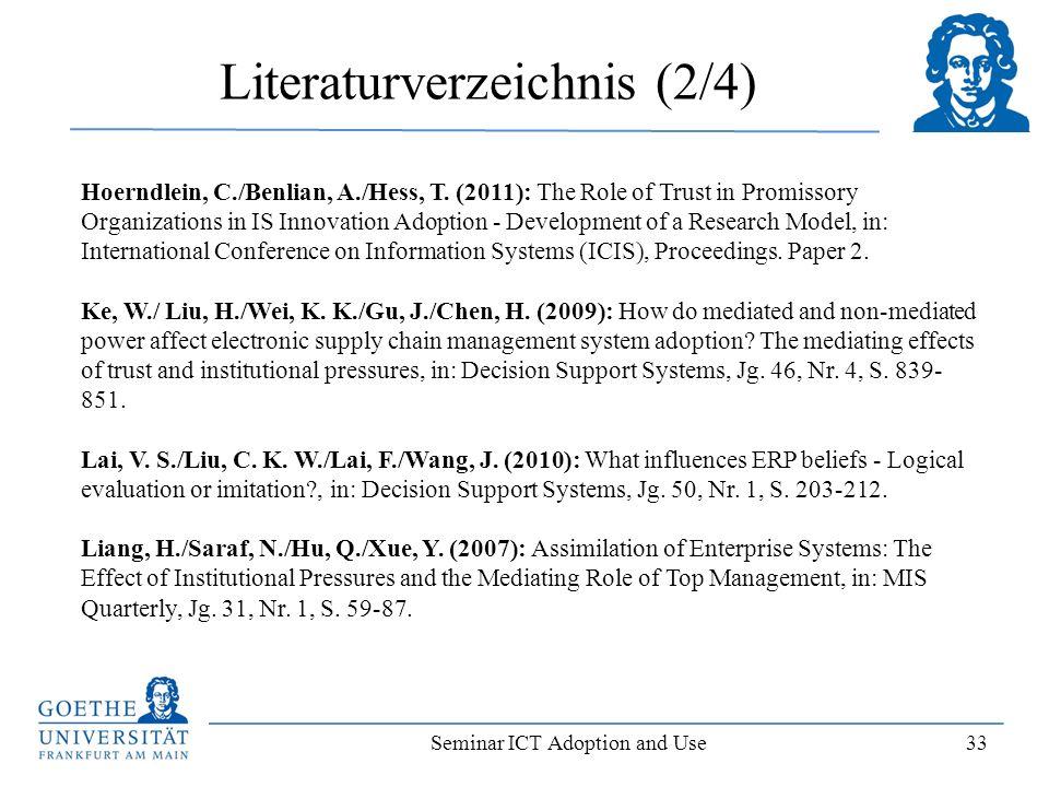 Literaturverzeichnis (2/4)