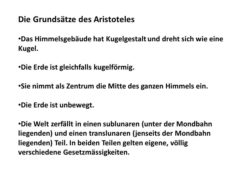 Die Grundsätze des Aristoteles
