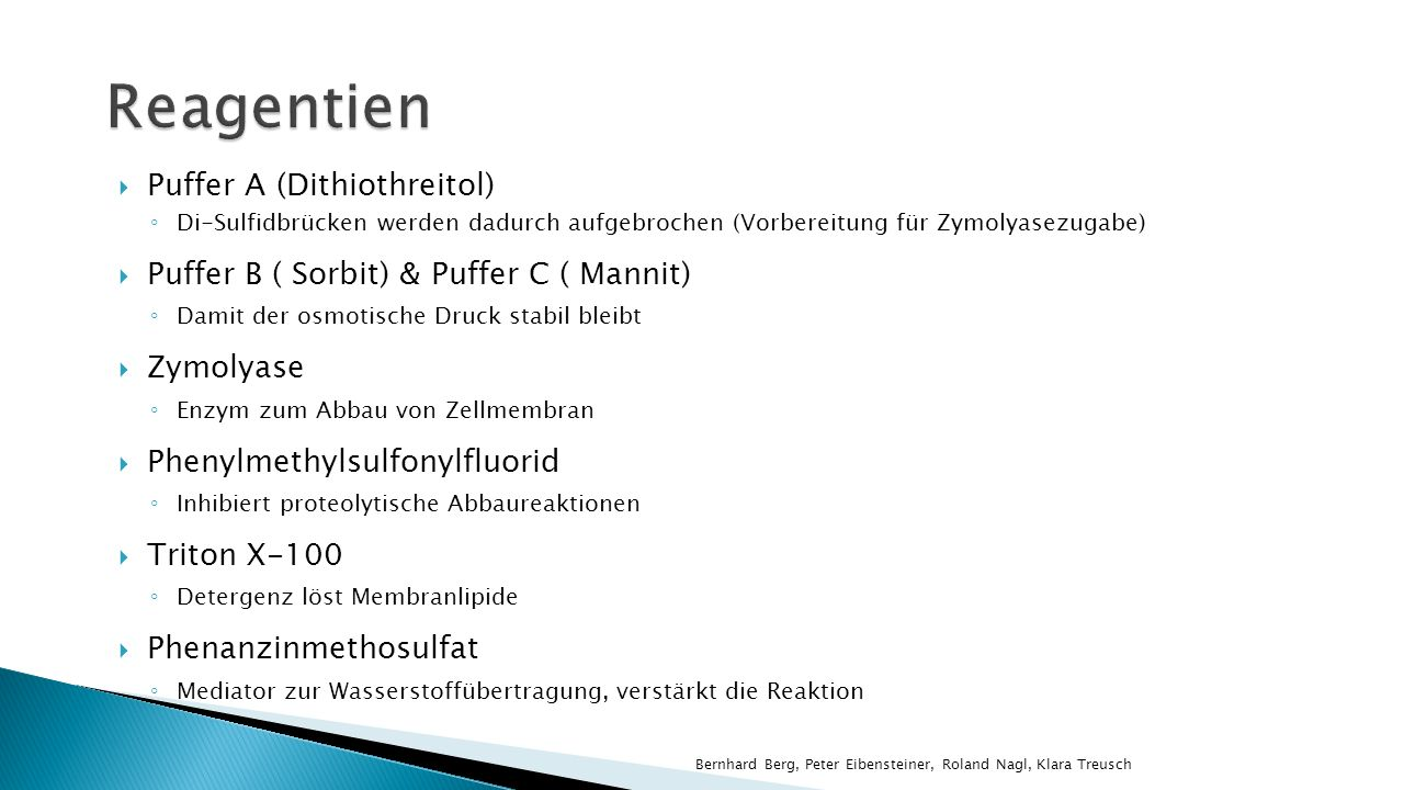 Reagentien Puffer A (Dithiothreitol)