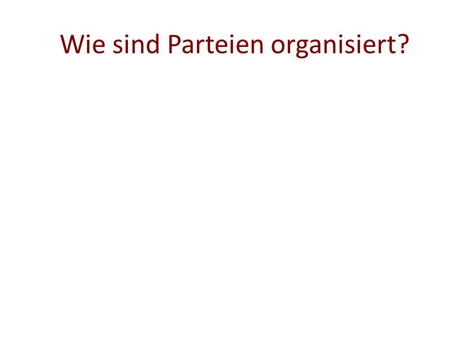Wie sind Parteien organisiert