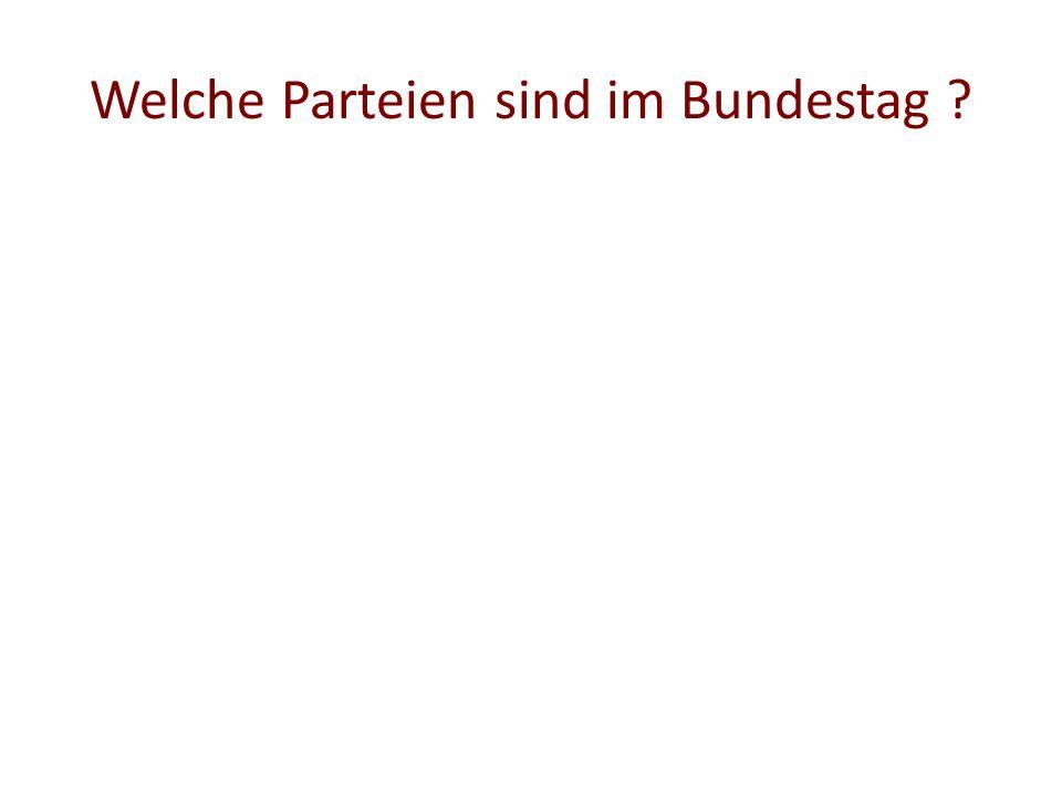 Welche Parteien sind im Bundestag