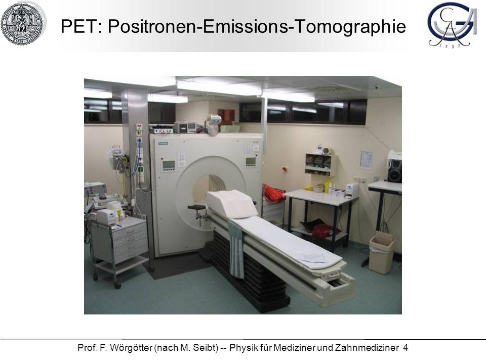 PET: Positronen-Emissions-Tomographie