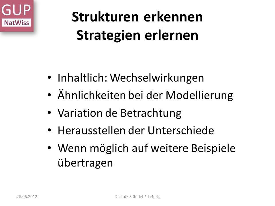 Strukturen erkennen Strategien erlernen