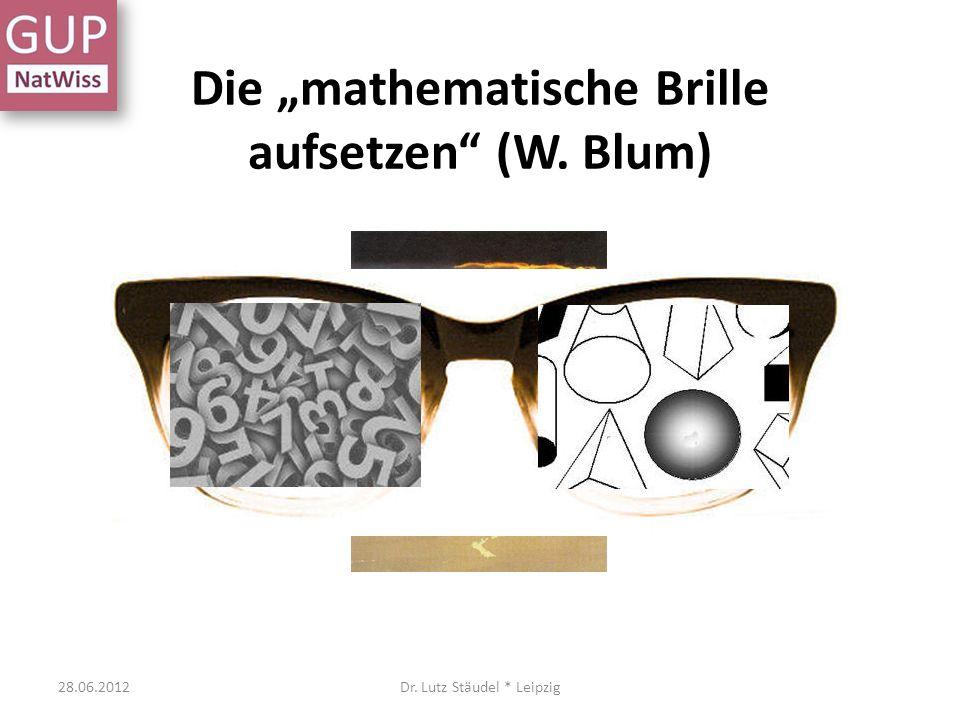 """Die """"mathematische Brille aufsetzen (W. Blum)"""