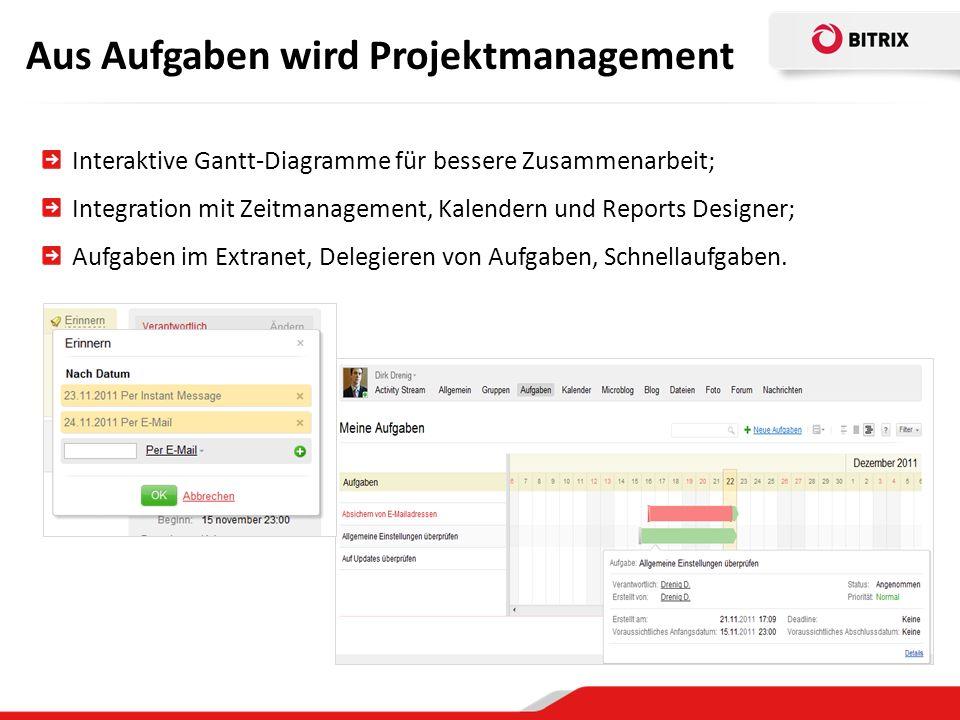 Aus Aufgaben wird Projektmanagement