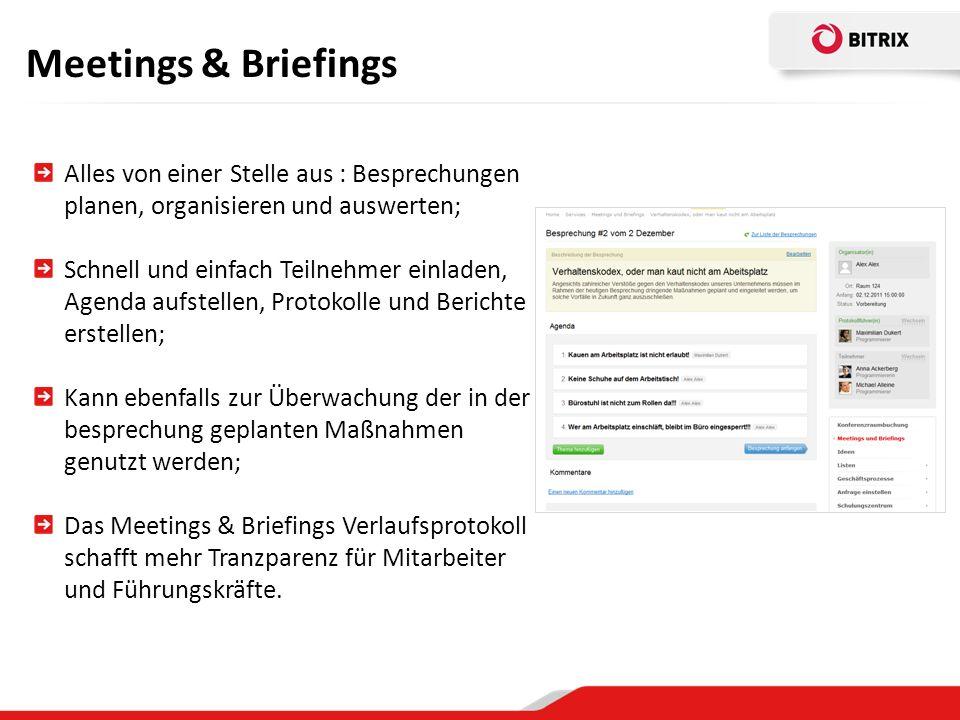 Meetings & Briefings Alles von einer Stelle aus : Besprechungen planen, organisieren und auswerten;