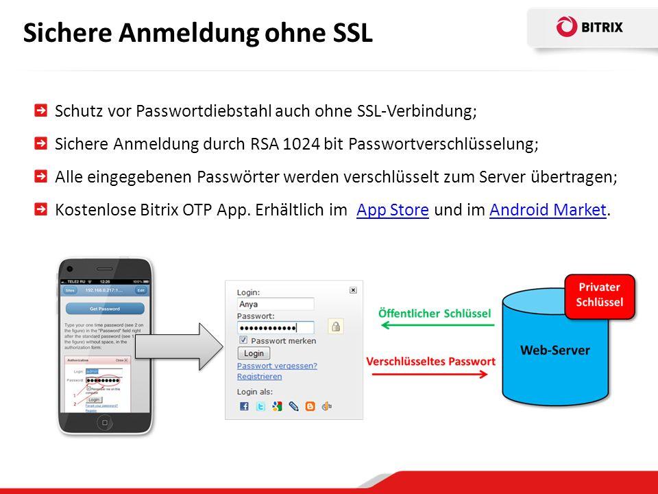 Sichere Anmeldung ohne SSL