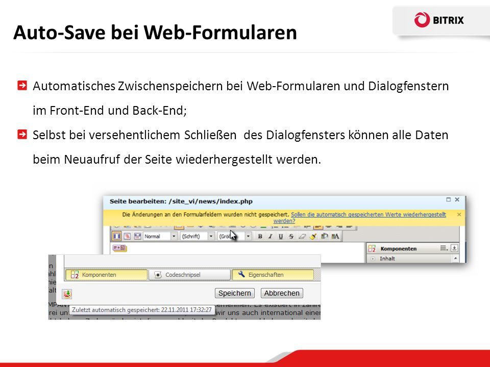 Auto-Save bei Web-Formularen