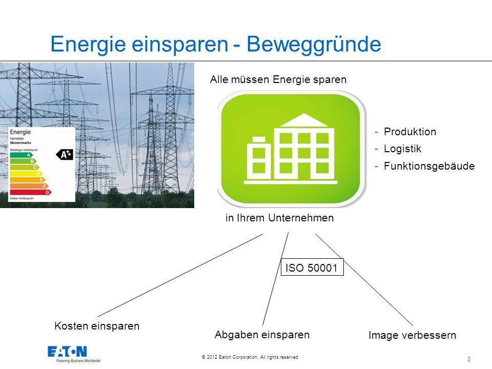 Energie einsparen - Beweggründe