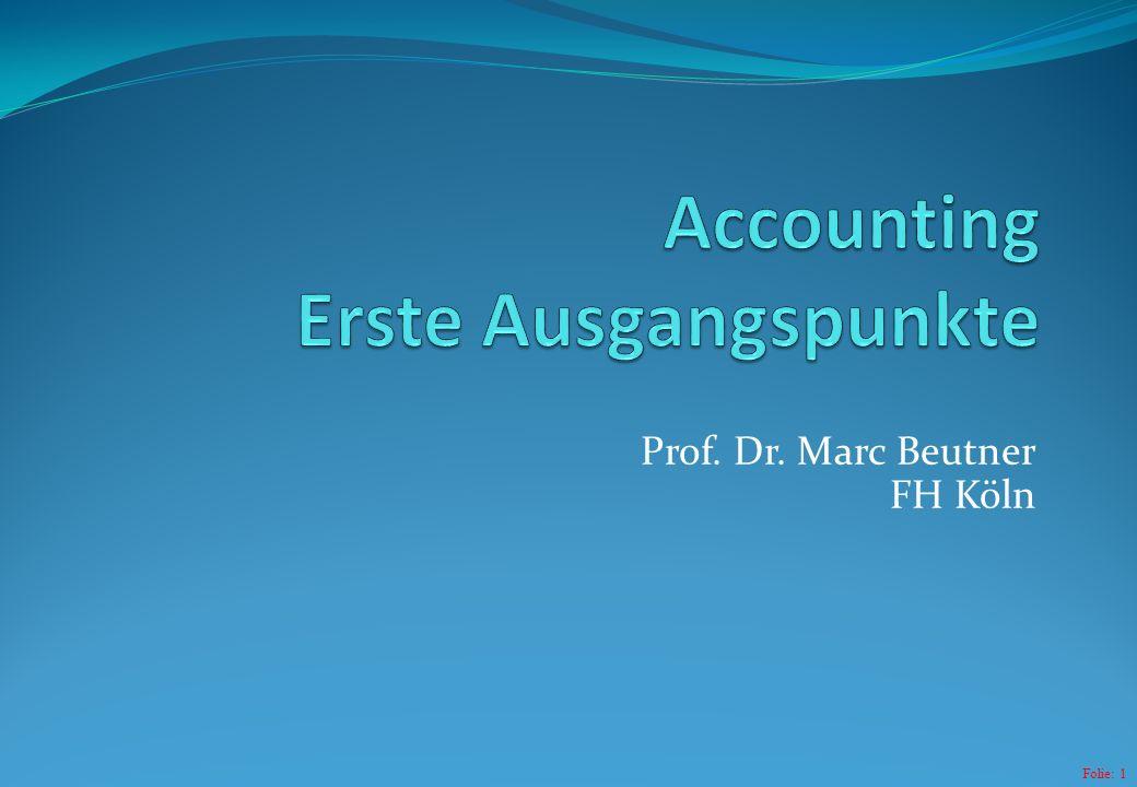 Accounting Erste Ausgangspunkte