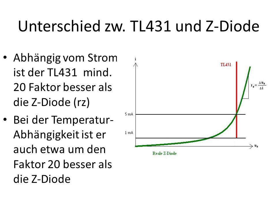 Unterschied zw. TL431 und Z-Diode