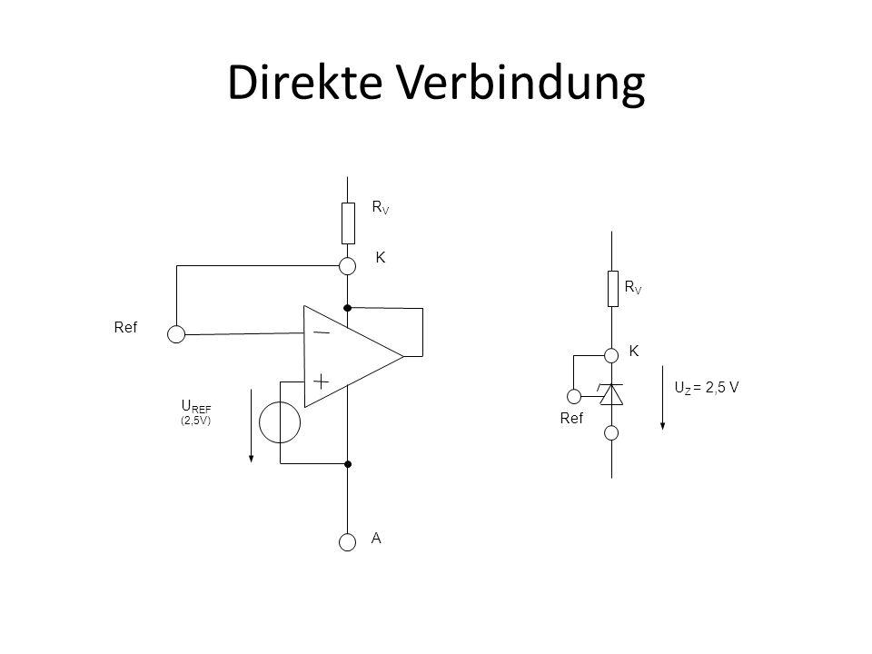 Direkte Verbindung UREF (2,5V) K A Ref RV K Ref RV UZ = 2,5 V