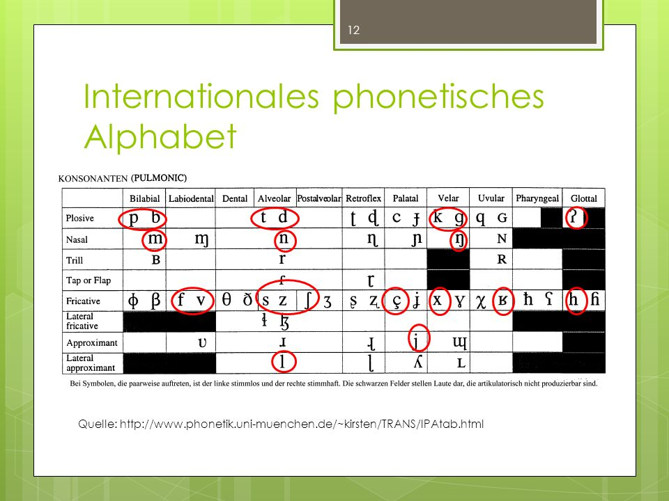 Internationales phonetisches Alphabet