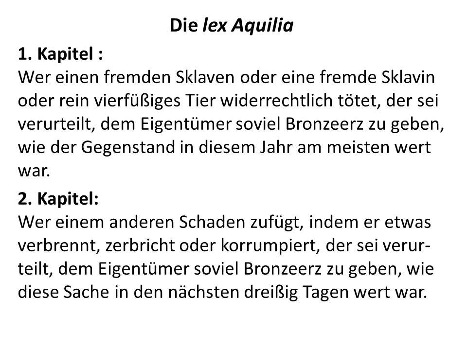 Die lex Aquilia