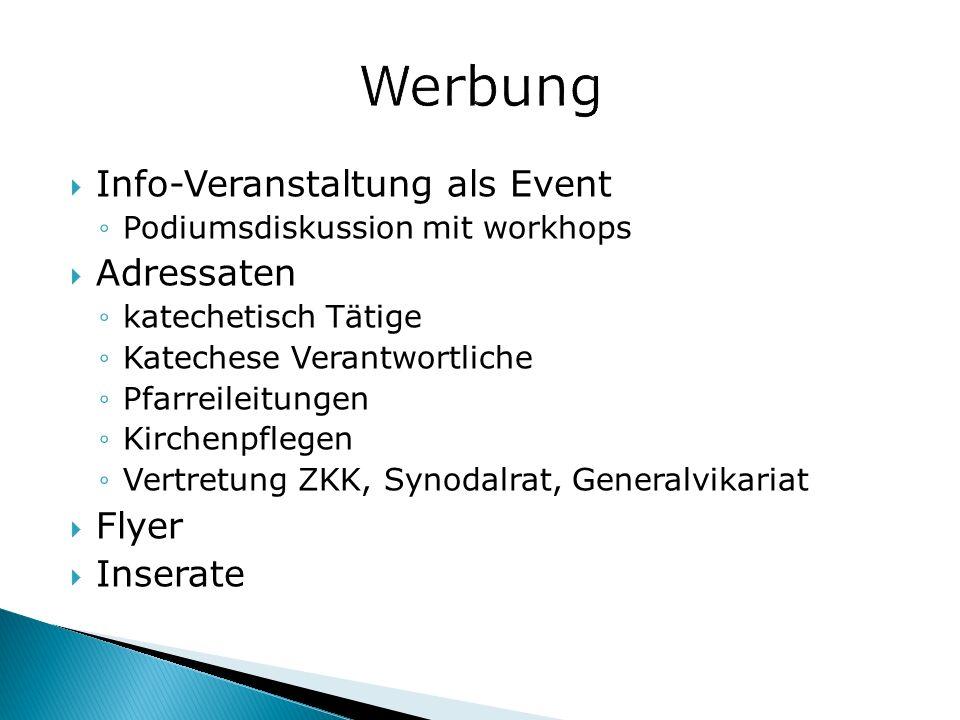 Werbung Info-Veranstaltung als Event Adressaten Flyer Inserate