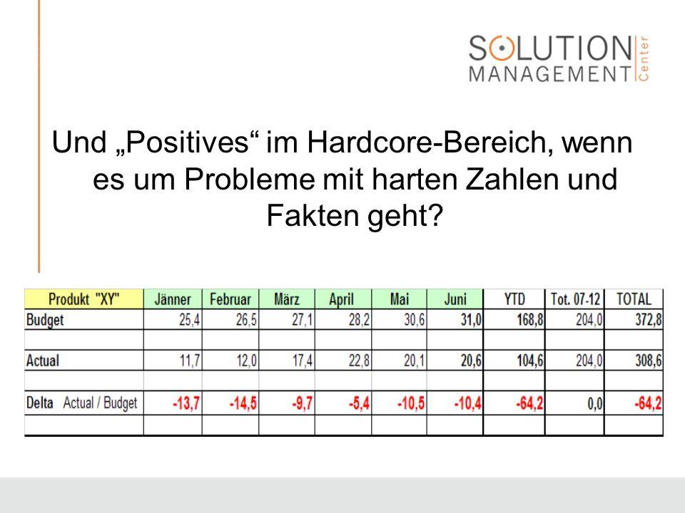 """Und """"Positives im Hardcore-Bereich, wenn es um Probleme mit harten Zahlen und Fakten geht"""