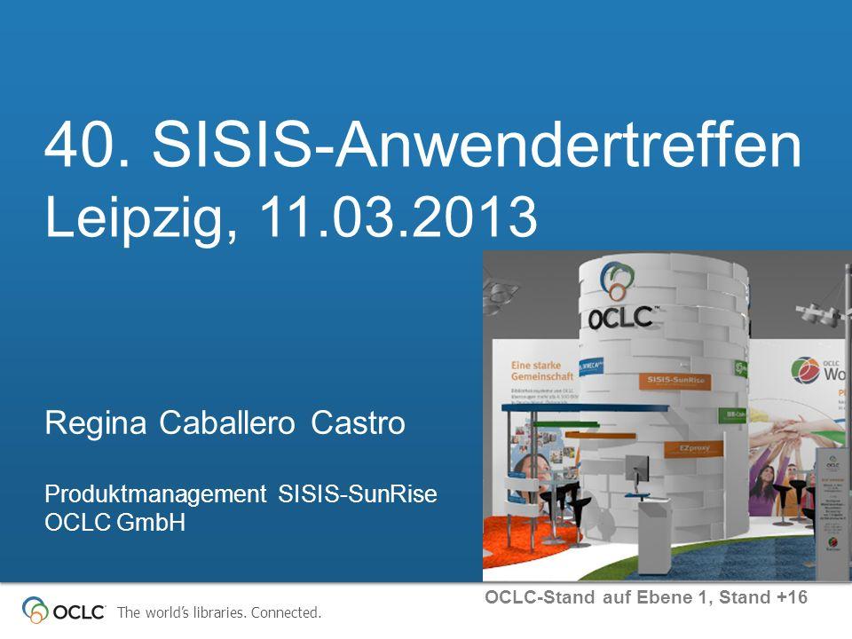 40. SISIS-Anwendertreffen Leipzig, 11.03.2013