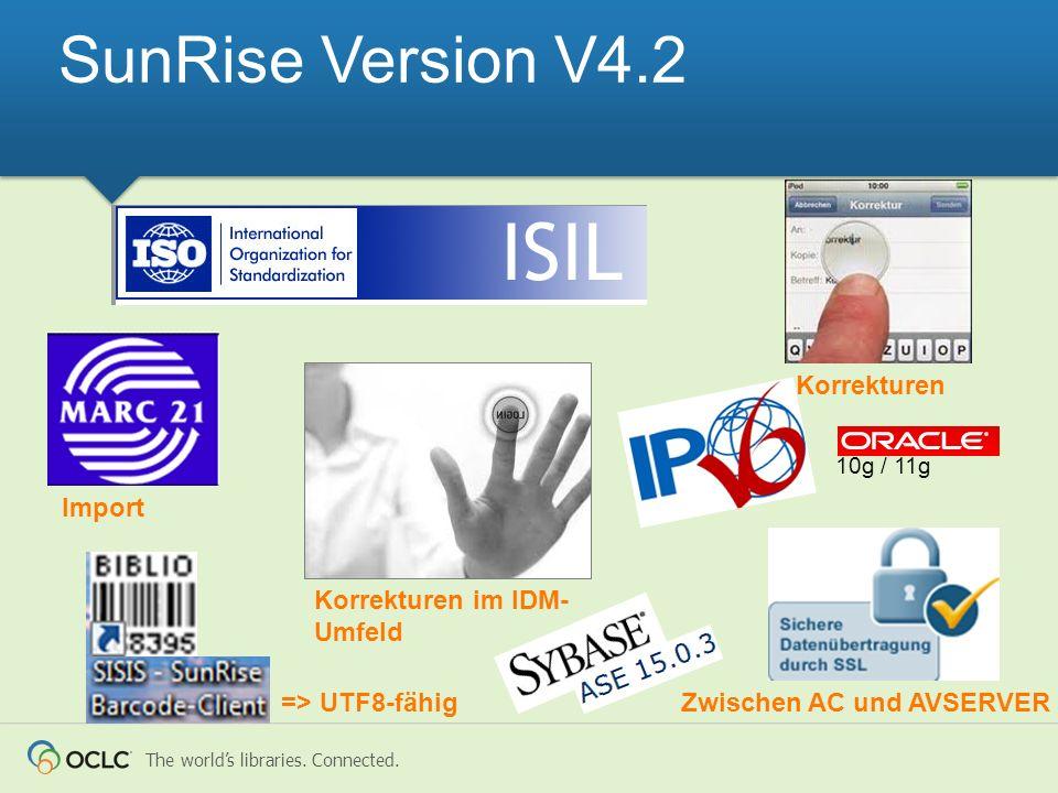 SunRise Version V4.2 Korrekturen Import Korrekturen im IDM-Umfeld