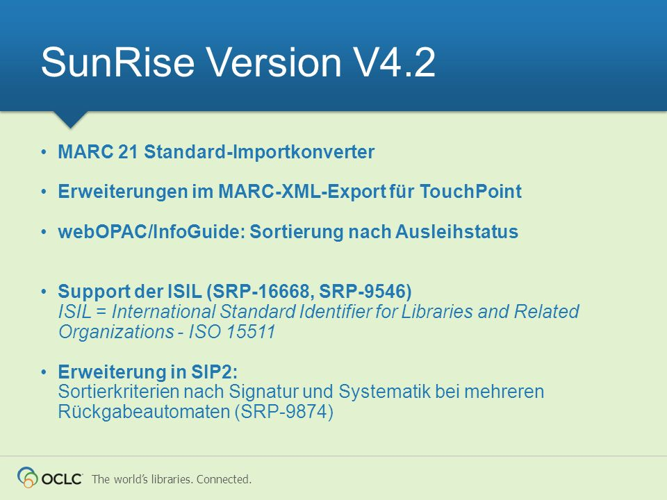 SunRise Version V4.2 MARC 21 Standard-Importkonverter