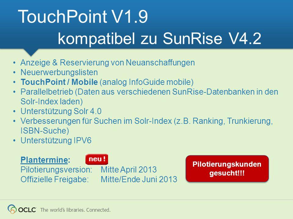 TouchPoint V1.9 kompatibel zu SunRise V4.2
