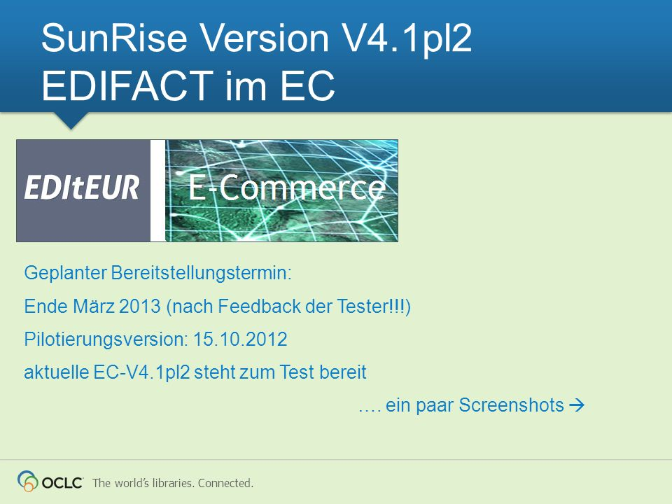 SunRise Version V4.1pl2 EDIFACT im EC