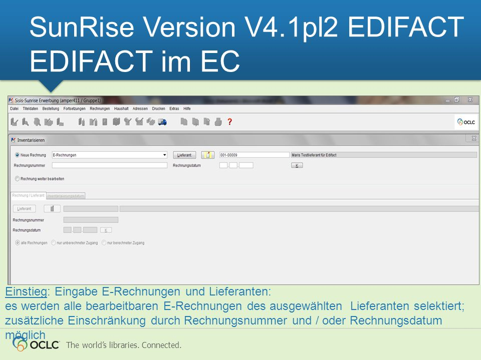 SunRise Version V4.1pl2 EDIFACT EDIFACT im EC