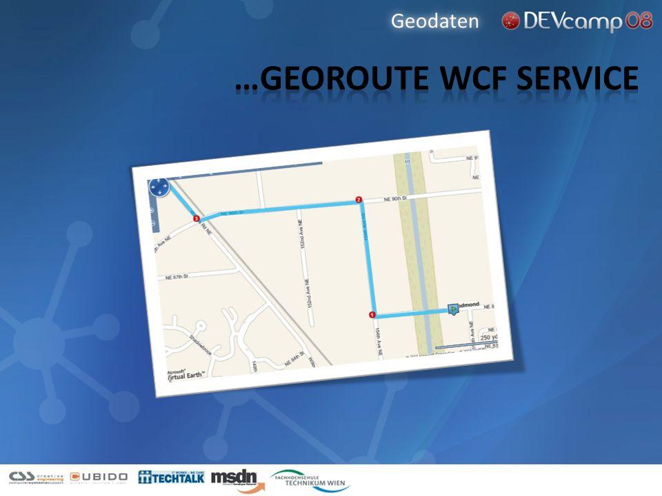 Geodaten …Georoute wcf service