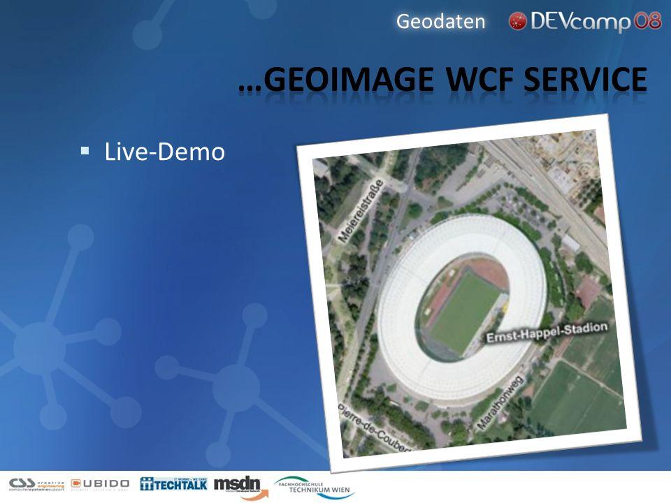 Geodaten …Geoimage wcf service Live-Demo