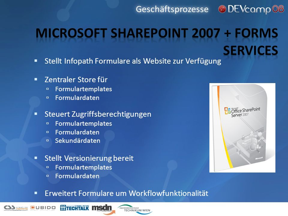 Microsoft Sharepoint 2007 + Forms Services