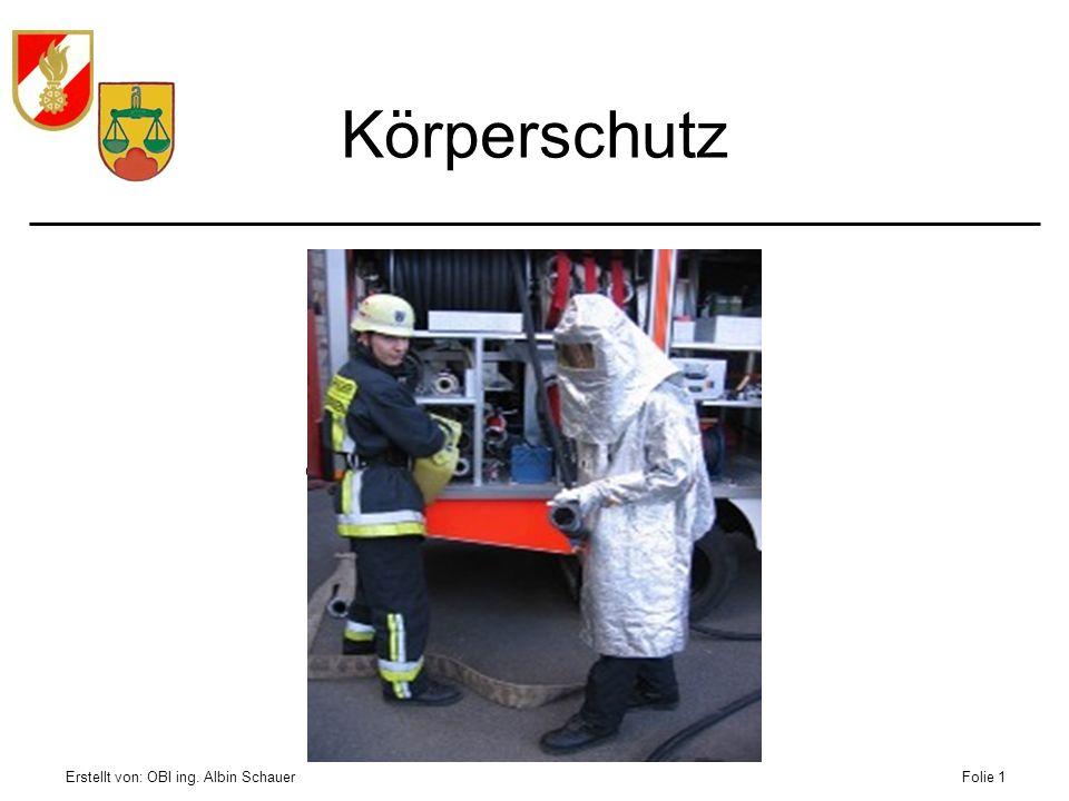 Körperschutz Erstellt von: OBI ing. Albin Schauer