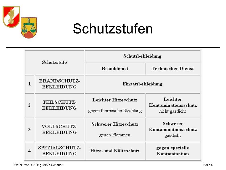 Schutzstufen Erstellt von: OBI ing. Albin Schauer
