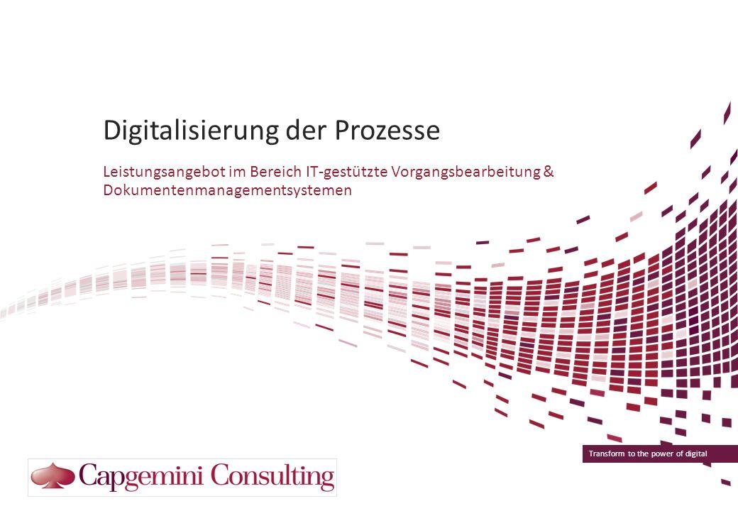 Digitalisierung der Prozesse