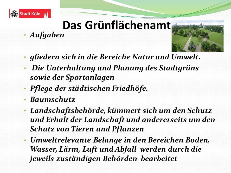 Das Grünflächenamt Aufgaben