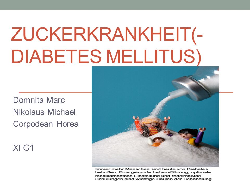 Zuckerkrankheit(-diabetes mellitus)