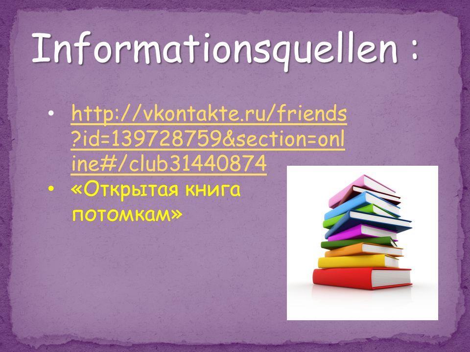 Informationsquellen :