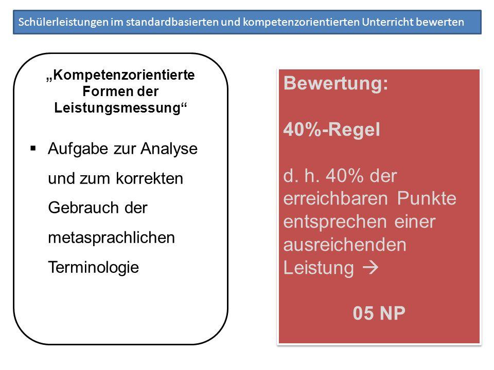 """""""Kompetenzorientierte Formen der Leistungsmessung"""