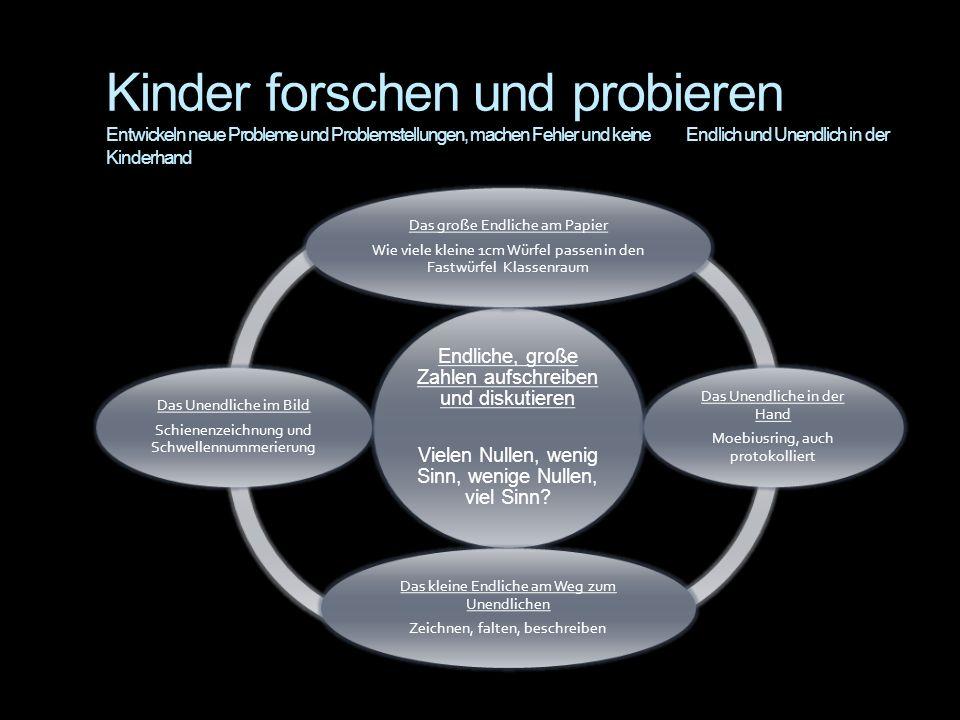 Kinder forschen und probieren Entwickeln neue Probleme und Problemstellungen, machen Fehler und keine Endlich und Unendlich in der Kinderhand