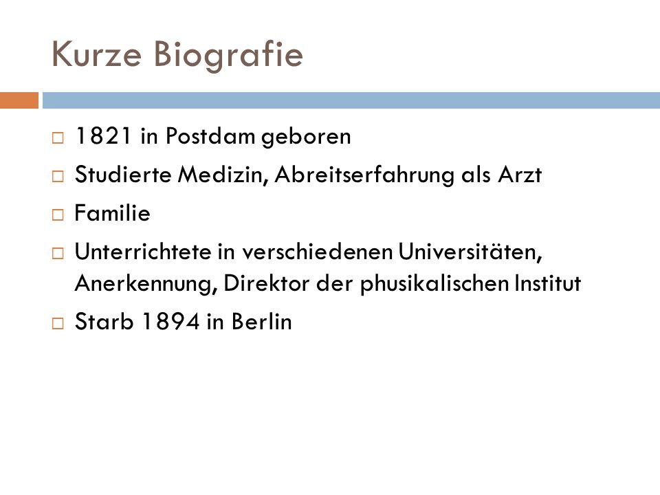 Kurze Biografie 1821 in Postdam geboren
