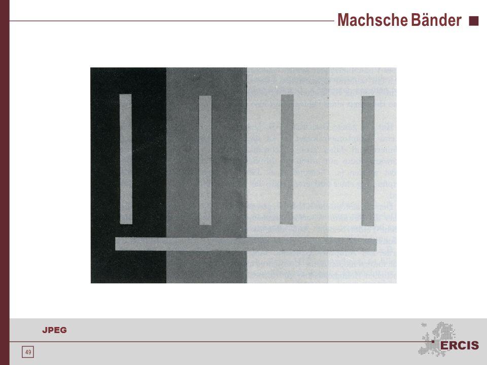 Machsche Bänder Bildquelle: Rainer Röhler: Sehen und Erkennen - Psychophysik des Gesichtssinnes