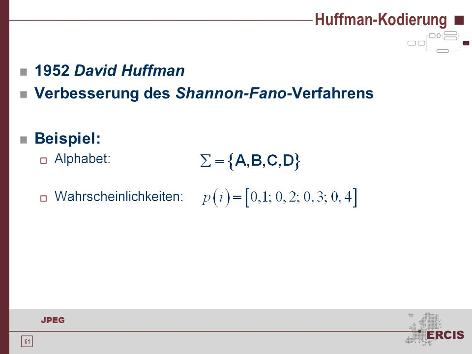 Huffman-Kodierung 1952 David Huffman